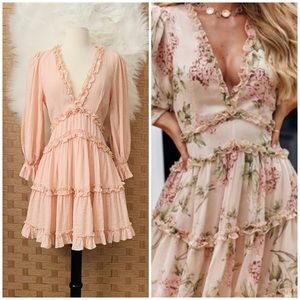 Angel Biba High Tea Ruffled Dress Size Medium